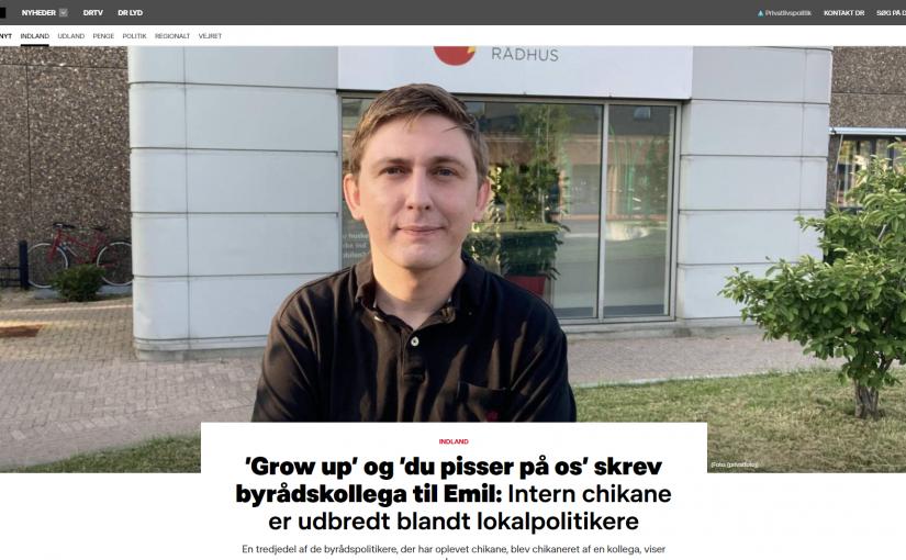 'Grow up' og 'du pisser på os' skrev byrådskollega til Emil: Intern chikane er udbredt blandt lokalpolitikere